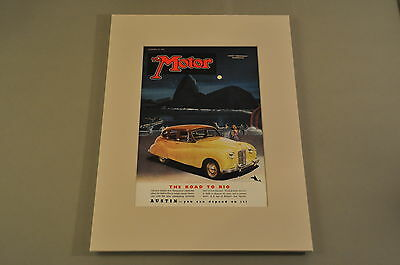 VINTAGE THE MOTOR Magazine Front Cover (Matted) 11/23/1949