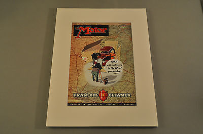 VINTAGE THE MOTOR Magazine Front Cover (Matted) 10/29/1947