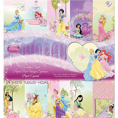 "Disney Princess Specialty Paper D/S 12""x12"" Scrapbooking Paper Collection"