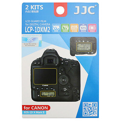 JJC 2kits Camera Screen Protector Film LCD Guard for Canon EOS 1D X MarkII 1DXM2