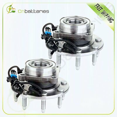 Pair Set(2) Front Wheel Hub & Bearing for Chevy GMC Truck 8 Lug 4X4 4WD w/ ABS