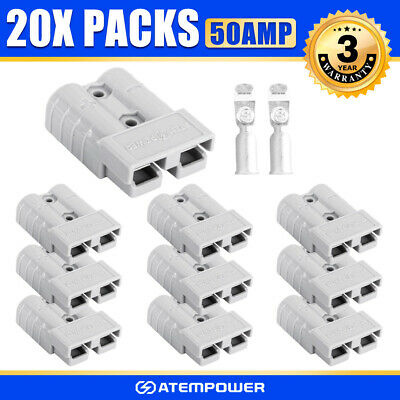 20x Anderson Style Plug 50AMP Premium Exterior Connector DC Power Solar