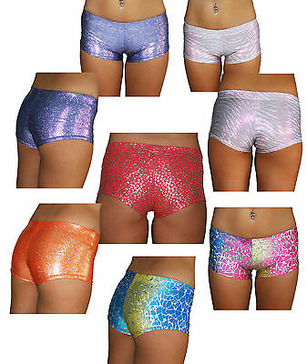 Juicee Peach Metallic Shorts for Pole Dance Fitness Yoga Roller Derby Aerial Gym