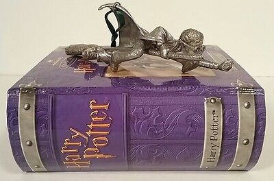 Harry Potter Hallmark Keepsakes Pewter Quidditch Broomstick Ornament Boxed NEW