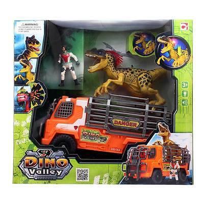Dino Valley Truck & Dinosaur Playset with Light And Sound Jurassic Park Kids Toy