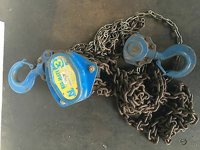 Chain Hoist 3 Ton x 3 meter drop Block and Tackle Nobles Rigmate 3000kgs