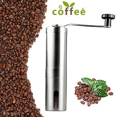 Stainless Steel Manual Coffee Bean Grinder Mill Home Kitchen Hand Grinding Tool