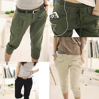 Casual Women's Summer Hot Fashion Cropped Pants Trousers Capris Harem Trousers