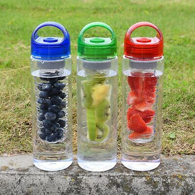 Fruit Infuser Water Bottle 700ml Infusing Juice Maker Sport Health No Drip