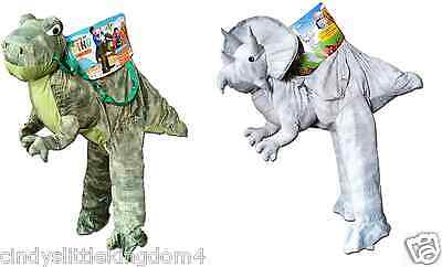 New T-Rex Dino Triceratops Dinosaur Ride On Fancy Dress Outfit Costume 3-7 Years
