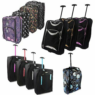 Wheeled Ryanair Cabin Approved Flight Hand Luggage Travel Trolley Suitcase Bag