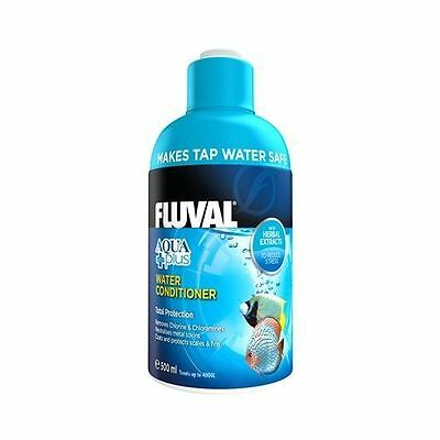 Fluval Aquaplus Aquarium Dechlorinator 500ml Fish Tank Tap Water Conditioner