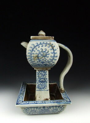 Nice Chinese Antique Blue&White Porcelain Wine Pot