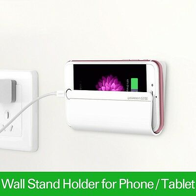 Universal Wall Stand Mount Charger Phone Holder For iPhone Samsung Tablet