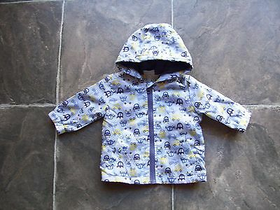 BNWNT Baby Boy's Fox & Finch Polar Fleece Lined Hooded Raincoat/Jacket Size 000