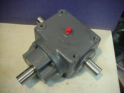 "New Browning Emerson Bevel gear box T drive 1:1 ratio 3 shafts 1""dia 6HB1-LR10"