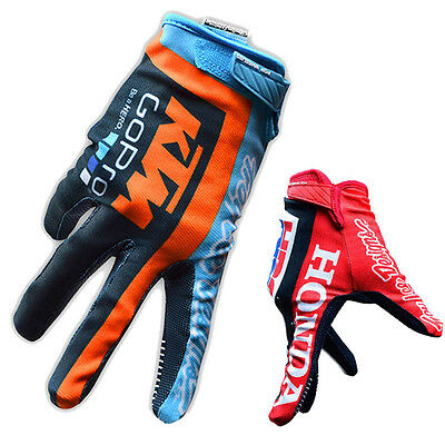 Mens Cycling Full Finger Gloves Sports Air MTB Motocross Racing Bike Bicycle