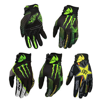 Mens Thor Cycling Racing Full Finger Gloves Mountain Bike Motocross Offroad DH