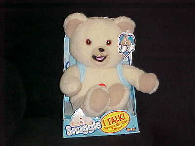 Talking Snuggle Fabric Softner Plush Bear In Box With Tags & Back Pack 2000
