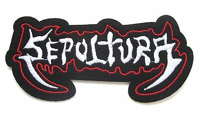 Sepultura Iron On Patch- Music Band Punk Rock Metal Badge Embroidered Sew Crafts