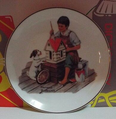 Mint-1984 Norman Rockwell Collector Plate A Dollhouse For Sis