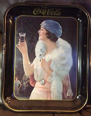 ***price Reduced***coca Cola Tray - 1925 Party Girl