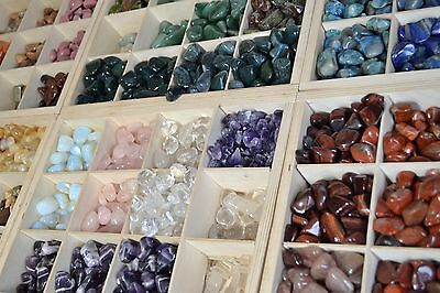 50 tumbled stones LARGE (20 - 30mm) polished crystal tumblestones gemstone