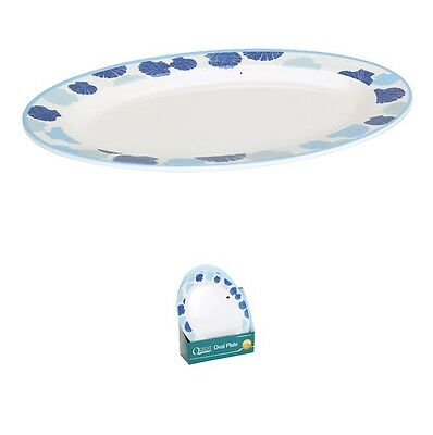 Quest Seychelles Melamine Large Oval Plate / Camping Caravaning