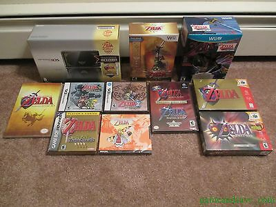 HUGE Brand New Legend of Zelda Collection: System+Games+More Rare Lot N64+DS+3DS
