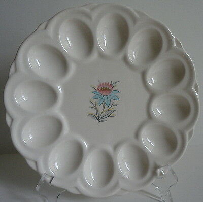 Steubenville 1930's Fairlane Center Floral Deviled Egg Plate