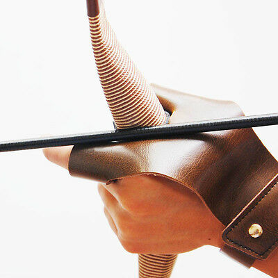 Hot Sale Archery Gloves Faux Leather Durable Shooting Mitts Pull Bow Safe Guard