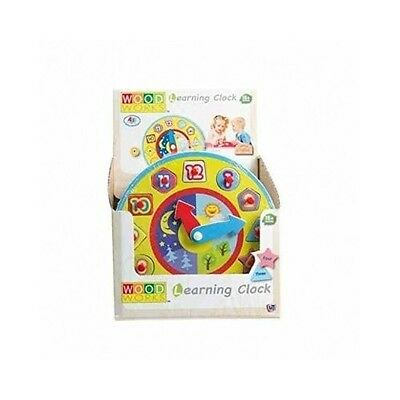 Puzzle Clock New Wooden Toy Learning Tell Time Educational Childrens Activity