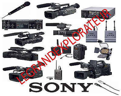 Ultimate Sony DV HD  Repair Service Manuals & Schematics  (PDFs manual s on DVD)