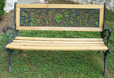 Beautiful Heavy Cast Iron Antique Outdoor Authentic Victorian Garden Bench Seat