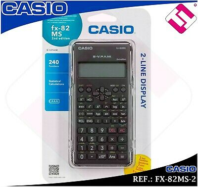 Calculadora Tecnica Cientifica Casio Fx82 Ms Colegio Instituto Universidad Nueva