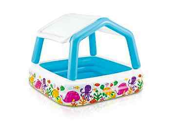 Inflatable Childrens Pool Sea Sun Guard Water Bath With a Stopper For Kids Play
