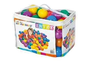 Play Pool Balls 100 Pieces Colored Plastic Children Toy Bag 3 Inches Diametr NEW