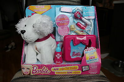BARBIE*Apprific Pet Doctor/Vet*Interactive/Electronic*White Puppy*Hug n Heal*NIB