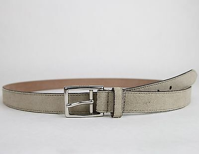 4a4940e263d NEW GUCCI MEN S Beige Suede Leather Belt Silver Buckle 368193 1523 ...