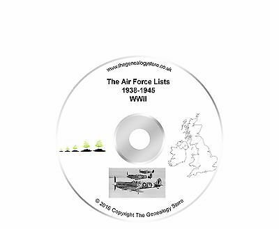Air Force Lists 1938 - 1945 WW2 DVD