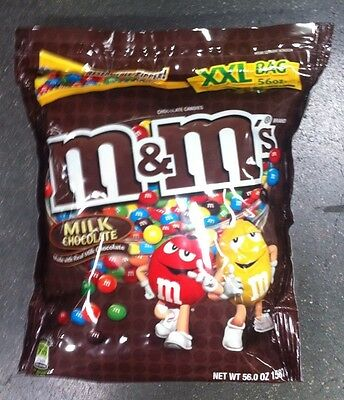 M&M's® Milk CHOCOLATE Candy 56 oz XXL Bag BULK Vending Halloween Christmas PARTY