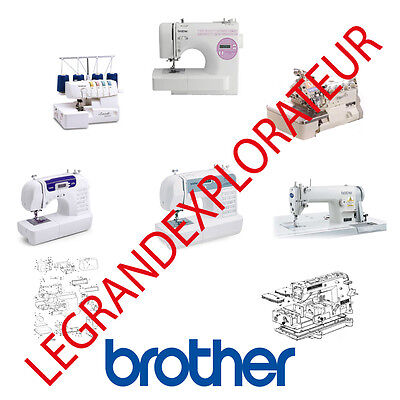 Ultimate Brother Sewing Machine Operation Parts Repair Service manual PDF on DVD