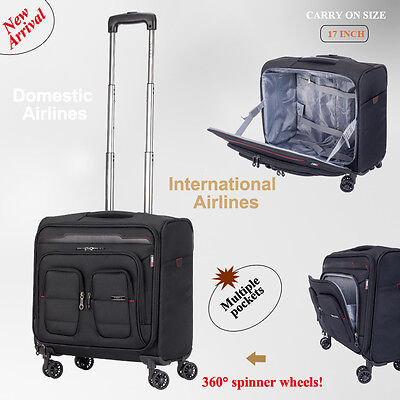 Carry on Luggage 4 Spinner Wheels Trolley Travel Bag suitcase Cabin