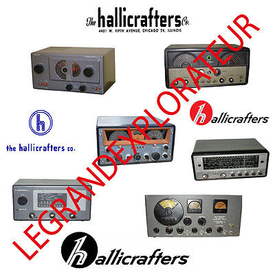 Ultimate Hallicrafters  Repair Service Manuals Operation Schematics Manual s DVD