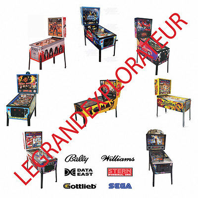 Ultimate Pinball machines Owner Repair Service Manual s & schematics PDFs on DVD