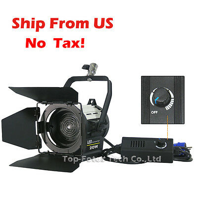 20W LED Studio Fresnel spot Continuous Light Video Camera Ship From USA