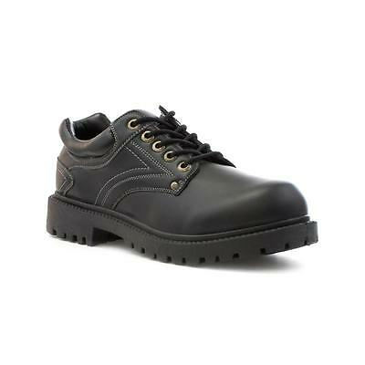Beckett Mens Black Plain Lace Up Casual Shoe - Sizes 6,7,8,9,10,11,12,13