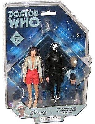 """Doctor Who 5"""" Caves of Androzani Peri and Jek Action Figure Set"""