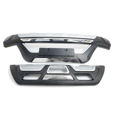 For Nissan X-TRAIL 2014 2015 Front Rear Bumper Protector Guard Plate Cover ABS