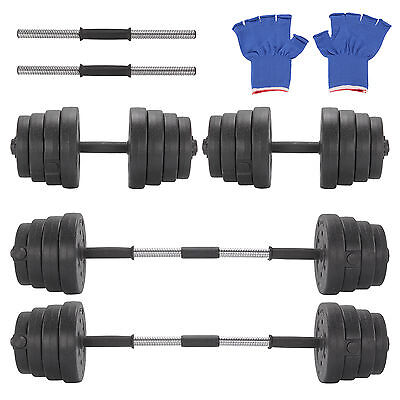 30kg Dumbbell Set Bar Dumbbells Home Gym Fitness Biceps Weights Barbell Bar